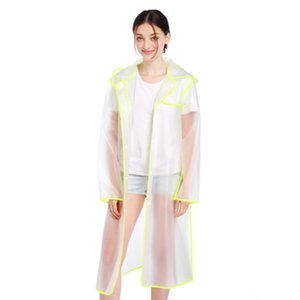 EVA Portable Raincoat,Reusable Rain Poncho with Hoods and Sleeves,Non-Toxic,No Plastic Smell,Environmentally Friendly,Light Weight and Perfe