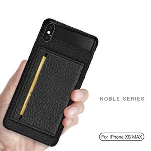 Держатель карты Кожа PU сотовый телефон дела для Iphone 11 Pro SE Samsung Galaxy S10 Xiaomi Mi 9 Huawei Mate 20 Назад Чехол