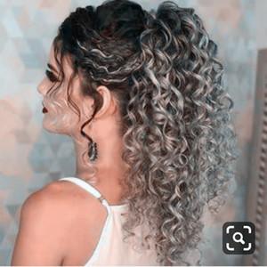 kadınlar bayan için Yeni Geliş Gümüş gri insan saçı at kuyruğu postiş derin kıvırcık İpli kadın saç uzatma gerçek İnsan saçı at kuyruğu
