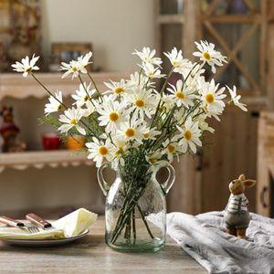 İpek Papatya Düğün Sahte Görüntü Ev Bahçe Dekorasyon Çiçek Taze Renk Flower 53cm Tall Yapay Çiçek