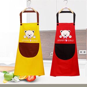 Wasserdichte Schürze Cartoon Tiere Panda Küche Kochen Latzschürze Ärmel Anti-Öl-Waist Lätzchen Lovely Kitchen Cooking Zubehörs