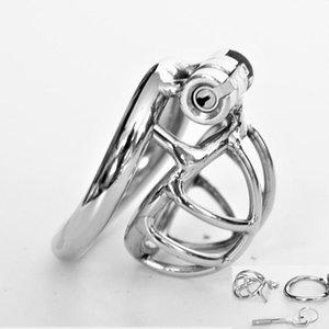 En forma de arco Nuevo dispositivo del anillo del martillo La castidad jaula de acero inoxidable Castidad Masculina BDSM Sexo juguetes para los hombres Cock jaula pene Lock