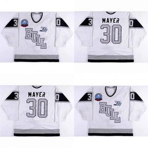 Custom Hull Olympiques Jerseys 30 Thierry Mayer Mens Womens Juventud 100% bordado cusotm cualquier nombre cualquier número Hot Sale Ice Hockey sobre hielo Jerseys