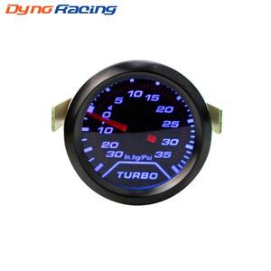 """2"""" Boost Auto Turbo 52 mm Gauge PSI fumée Cadran bleu LED d'éclairage intérieur Dash compteur voiture"""