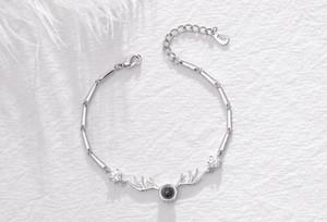 Desiner Bracelet Le bracelet en bois de personnalité de couple fanshion avec le même argent pur le même paragraphe que l'INS