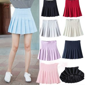 Top Sell Women Lady Cute High Waist Plain Skater Flared Pleated Short Solid Mini Skirt Shorts High Quality Comfortable