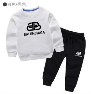 Детские наборы куртки Детские толстовки свитера и штаны 2pcs / наборы Дети Спорт Набор для младенцев мальчиков девочек зимние пальто Брюки Sets064c466