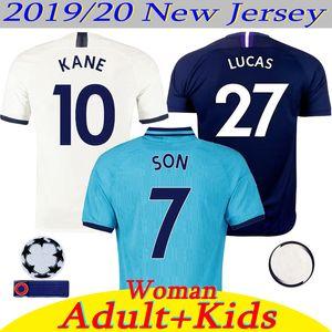 Nuevo 2019/20 Tailandia KANE espolones jersey de fútbol Hombre Mujer Niños LUCAS ERIKSEN DELE hijo de 19 20 Tottenhames hogar lejos 3ª camisetas de fútbol azul