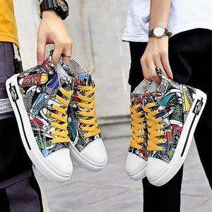 Мода печати женщины мужчины повседневная обувь кожа платформы Sports кроссовки мужские тренеры дизайнер обуви Самодельный бренд Сделано в Китае