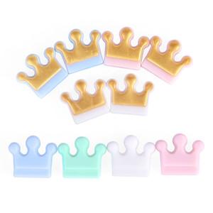 Catena New Crown Beads silicone Bambino di dentizione Bead Food Grade fai da te collana del braccialetto Ciuccio Accessori Silicone Teether BPA