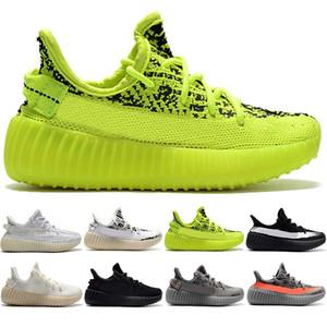 Sneaker Hommes Femmes Sport Chaussures de course pour enfants Enfants Yougth Kanye West Noir statique réfléchissant Antlia Clay Hyperspace Sport Pointures 28-35