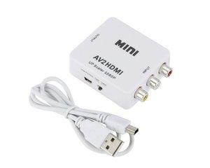 1080P Mini AV HDMI adaptateur convertisseur signaux audio vidéo RCA aux signaux HDMI vers HDMI CVBS AV2HDMI Converter pour PC DVD HDTV TV