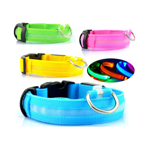 Hot Sales LED Flash Nylon Collar Anti-lost Pet Dog Collar Blinker Safety Flashing Collar for Dog and Cat
