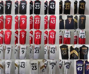 2020 Erkekler 7 9 23 43 Spor Jersey City Kazanılmış ucuz Dikişli Nakış Beyaz Kırmızı Siyah Üst Kalite Drop Shipping Toptan