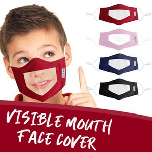 Deaf Mute Face Mask Kids Washable Reusable Mask PVC Transparent Mouth Masks Protective Anti Dust Mouth Cover HHA1498