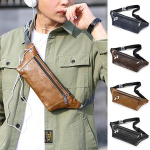 Fashion Chain Fanny Pack Banana Waist Bag Men Waist Packs Chest Bag Messenger Single Should Phone Leather Bags mujer #YJ