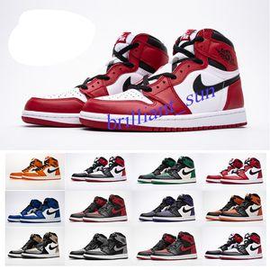 Nike Air Max Jordan 1 2 3 5 9 11 12 13 2020 1 TOP3 شيكاغو كريستال جرين باين 1S أحذية الظل Solefiy الرجال لكرة السلة السامي ريترو OG NRG عدم البيع الاتحاد ذاته