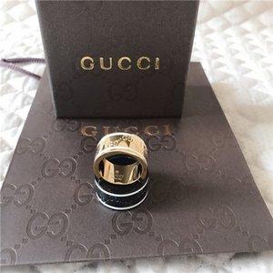 Высочайшее качество нержавеющей стали 316L G моды Стили 4 цвета Stamp кольца для женщин и мужчин Позолоченные ювелирные изделия GUCCI Wedding