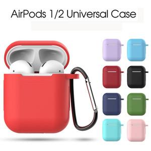 Perakende Paketi ile Apple Airpods Kulaklık Darbeye toz geçirmez Kulaklık Koruyucu Kapak Toz Tak Renkli Airpods Silikon Kılıf