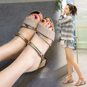 Pop2019 Buckle um dedo do pé antiderrapante Mulher Sandals