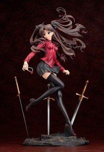 Fate Stay Noite FGO Zero WAVE Tohsaka Rin Ishtar em Ação Red Dress Sexy girl Saber Nero PVC Figura ilimitado Lâmina Works Modelo