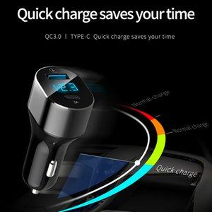 CYKE nouveau type c chargeur double voiture usb chargeur intelligent d'affichage numérique de voiture à double port