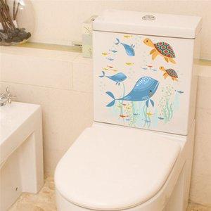 Unterwasser-Fisch-Schildkröten-Wand-Aufkleber-Abziehbilder Art Badezimmer Fenster Kühlschrank WC Badezimmer Dekoration