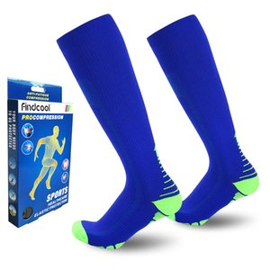 FINDCOOL Diz Erkekler ve Kadınlar için Yüksek Sıkıştırma Çorap Hızlı Kuru Yüksek Kaliteli Bacak Desteği
