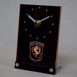Wholesale-TNC1005 FC Twente Enschede Eredivisie LED Neon Sign 3D LED Table Desk Clock