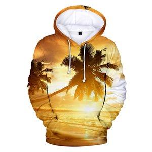 Beach Hoodies Men Women Hoodie Sweatshirt Hooded Mens Ocean Beautiful Seaside View Coconut Tree Sweet Cap Hoody Polluvers Coats Y200519