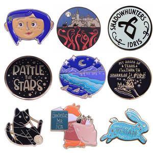 K2044 Coraline Horror Pins Enamel Pin Brooches Cartoon Creative Metal Brooch Pins Denim Hat Badge Collar Jewelry