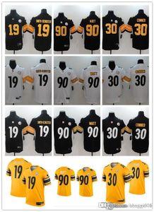 Men Women Youth PittsburghSteelers19 JuJu Smith-Schuster 90 T.J. Watt 7 Ben Roethlisberger 30 James Conner Custom Football Jerseys