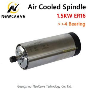1,5 KW refrigerado por aire husillo de fresado ER16 del huso 1.5KW 220V Con 4 Teniendo GDZ-80-1.5F NewCarve