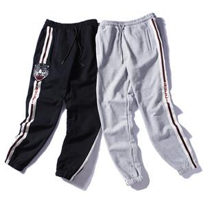Erkek Pantolon 2019 İlkbahar Sonbahar Yeni Marka Giyim Marka Pantolon Spor Stil Kaplan Kafası Erkek Marka Jogging Yapan Pantolon