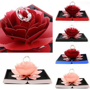 día único Pop Up boda de Rose anillos de compromiso sorpresa caja de almacenaje de la joyería titular de San Valentín mejores cajas de regalo para las mujeres