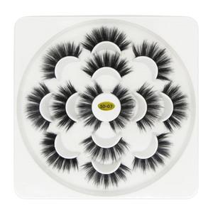 5D ресницы 7 пар густые натуральные накладные ресницы с цветочной формой чехлы для красоты макияж поддельные ресницы расширение новых стилей