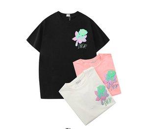 20SS футболки для женщин Мужского Brandshirts Luxury Designertshirt Summer Топ Printed Tshirt Бесплатной доставка Девочка Тис