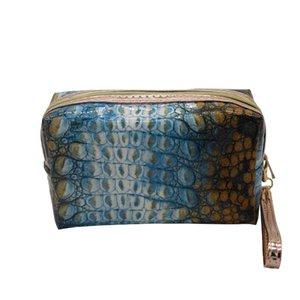 Waterproof Convenient Storgage Bag PVC Crocodile Pattern Female Cosmetic Bag Korean-style Travel Bag