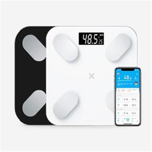 Vücut Ölçeği Kat Bilimsel Akıllı Elektronik LED Dijital Ağırlık Banyo Denge Bluetooth APP Android / IOS Xiaomi mil 2 USB Y200106