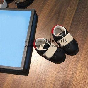 Kutu Gerçek Deri Makosenler Unisex Loafers İçin Bebekler ile Boys İlk Ayakkabılar Bebek Boys Tasarımcı Bebek Ayakkabı için Nefes Ayakkabı
