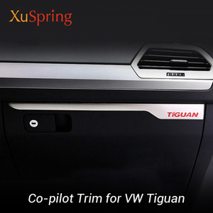 Co-pilot Groove Box Trim Cover Strips Garnish Stickers Car Styling For VW tiguan mk1 mk2 2010-2019