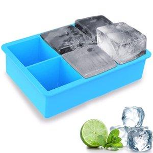 6 개 홀 위스키 아이스 큐브 금형 여름 광장 아이스크림 금형 젤리 푸딩 표시 금형 바 마시는 와인을 얼음 만들기 도구 BH3177 TQQ