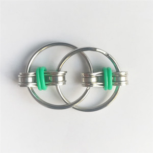 1pcs 금속 클래식 키 링 핸드 피날레 회 전자 3cm Spincube 안티 프레스 키 링 핑거 스피너 큐브 공장 도매