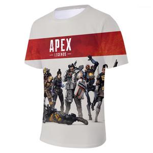 2019 T-shirts manches courtes d'été imprimés 3D héros T-shirts Apex Legends Top Mens