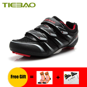 TIEBAO Cycling shoes road sapatilha ciclismo men self-locking breathable outdoor women road bike sneakers pro riding shoes