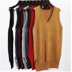 Sweater vest Loose Vcollar waistcoat jacket Sweaters Clothing Pullover Sweater vest Loose Vcollar waistcoat jacket Women's Sweaters Women's
