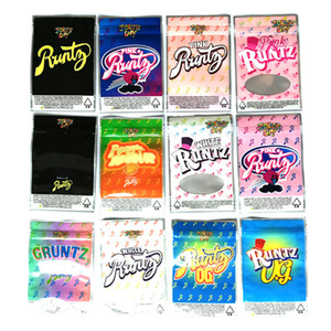 L'UP Joke! Runtz Package Ziplock Blagues Up Runts mylar Sacs Seulement Emballage Zipper Nabot Pouch pack 12 types DHL gratuit