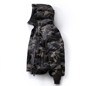 Canada Inverno Mens Bomber Homme inverno Giacche Outerwear Chaquetas Big pelliccia con cappuccio Fourrure Manteau giù ricoprono Hiver Doudoune