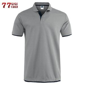 Classic T Shirt manica corta estate degli uomini casuale T-shirt solido traspirante lusso Tops cotone Tshirt maglie Golf Tennis Men Camisa