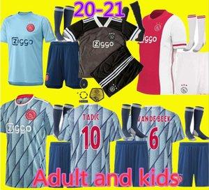 19 20 21 AJAX FC futbol forması DE JONG TADIC DE ligt ZIYECH VAN BEEK NERES Yetişkin ve çocuklar Tayland 2019 2020 2021 futbol forması